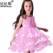 Bibihou Childrens Fancy Dress Clothing Princess Christmas Costumes Girls Infant Pageant Dresses Dresses For Girls Teenagers(China)