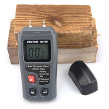 EMT01 0-99.9% Two Pins Digital Wood Moisture Meter Humidity Tester Timber Damp Detector 0.5 percent Accuracy Moisture Meter Test(China)