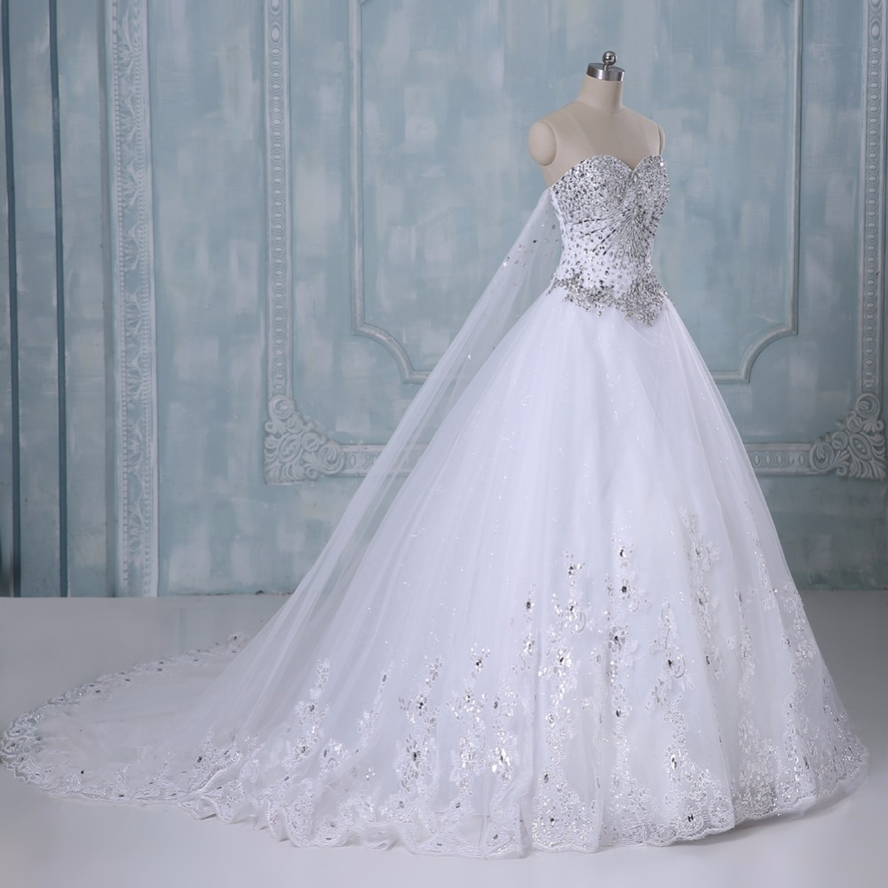 New Bandage Tube Top Crystal Luxury Wedding Dress Bridal gown wedding dresses vestido de noiva x71101 4