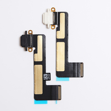 For iPad mini 1  Dock Connector Charging Port Flex Cable black and white 1pcs