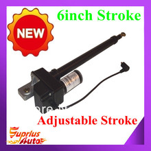 "Free Shipping 6"" Linear Actuator 225lb Adjustable Stroke 12-Volt DC w/Built In Limit Switches"