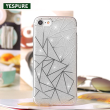 YESPURE 4.7 Inch Glossy Shinning Girl Cases Fancy Cheap Cell Phone Cover for Iphone 7 Silicone Phone Case Accessories Lovely
