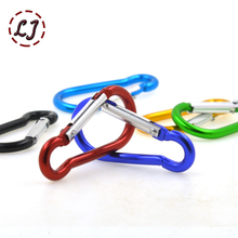 New 10pcs/lot colorful Aluminum Spring Carabiner Snap Hook Hanger Keychain Travel Kit for Camping Hiking bag belt accessories