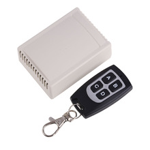DC12V 4 CH RF Wireless Remote Control Radio Switch Transmitter Receiver High Sensitivity 315MHz 20-100m 4 Buttons