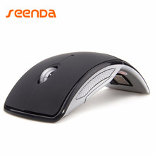 Hot Sale Wireless Mouse 2.4G Computer Mouse Foldable Travel Mouse Folding Mini Mice USB Receiver for Laptop PC Computer Desktop(China)