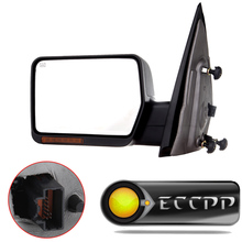 Eccpp Driver Side Mirror Power Heated LED Turn Signal Light For 2004 2005 2006 Ford F150 Truck Towing Passenger Rearview Mirror