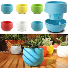 Hot 1Pcs Mini Flower Pots Gardening PP Plastic Vase Square Flower Bonsai Planter Nursery Pots Flower Pots Planter Garden Pots(China)
