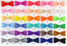 "300pcs/lot New Arrival  3""  Felt Dot Bow Without Clips Kids Girls Hair Bow Hair Accessories DHL/EMS free shipping"
