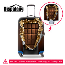 Dispalang 3D Chocolates custom design dustproof elastic luggage protective cover for 18 20 22 24 26 28 30 inch case S/M/L covers(China)