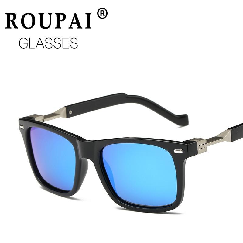 ROUPAI New Fashion Goggle Polarized Sunglasses Men Brand Sunglasses Coating Mirror Sun Glasses retro Male oculos de sol P0762<br><br>Aliexpress