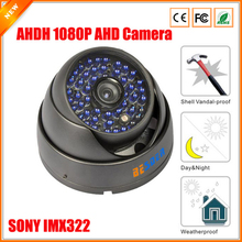 BESDER SONY IMX323 Vandal-proof Waterproof Indoor Outdoor IR Night Vision Dome Camera AHDH AHD Security Camera CCTV 1080P(China)
