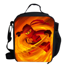 2015 Fashion Ninjago Lunch Bag Thermal Cooler Personalized Insulated Lunch Bag For Kids Bags Cartoon Bags Teenager Girls(China)