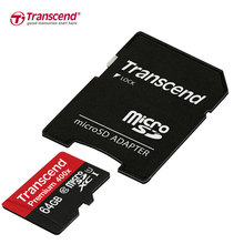 Genuine Original Transcend Micro SD Card 64GB High Speed 60MB/s UHS-I 400X Memory Card 64gb Tarjeta Micro SD