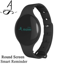 AhSSuf Smartband Round Screen Sports Bluetooth Vibrating Alarm Clock Call Message Reminder Intelligent Bracelet for Mobile Phone