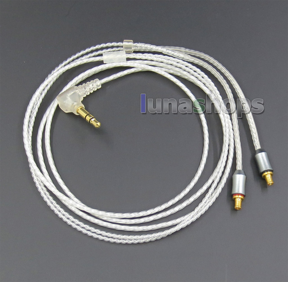 Silver Upgrade Audio Cable For CKS1100 ATH-LS70 ATH-LS50 ATH-E40 ATH-E50 ATH-E70 LN005689<br>