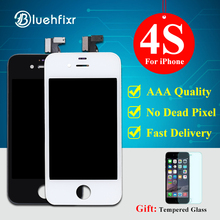For iPhone 4S LCD Display Touch Screen Digitizer Assembly Phone Replacement Parts Black White LCD For iPhone 4S Display