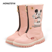 Winter snow Baby Shoes Infants Warm Boots Fur Wool children Booties Water Proof Pu leather Baby Boy Girl Fur Newborns Toddlers(China)
