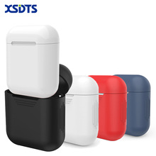 XSDTS For Apple Airpods Silicone Case Soft TPU Cover Transparent Ultra Thin Protector Case Sleeve Pouch for Air pods Earphone