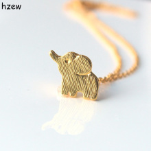 hzew Min 1pc Gold and silver lucky elephant necklace