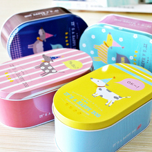 HS040 Happy dog Iron jewelry box  storage box  tin boxes receive box 16*9.2*6.5cm Free shipping