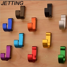 Great Aluminum Finish Candy Color Clothes Hanger & Towel & Coat & Robe Hook Decorative Bathroom Hooks Wall Mounted