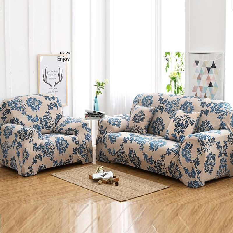 2018 Simple European stretch sofa cover anti slip leather ...