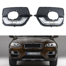 100% Brand new for BMW X6 E71 2008-2013 Daytime running lights, cheap price X6 E71 LED DRL Waterproof fog lights(China)