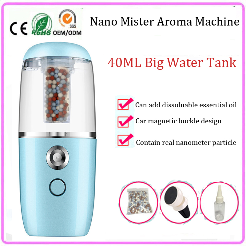 rechargeable face beauty nano handy mister facial sprayer steamer car aroma diffuser machine keep skin moist anytime anywhere<br>