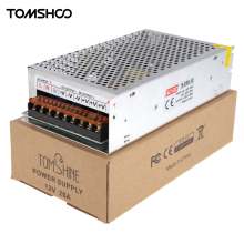 Tomshine AC200-220V to DC12V 30A 360W 3CH LED Driver Power Supply Adapter Transformer Switch for LED Strip String Light