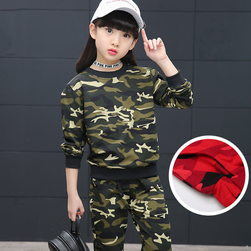 2017 Spring Girls Clothing Sets camouflag Cotton Girls Sports Suits Long Sleeve T-Shirts &amp; Pants 2Pcs clotjhing set ropa mujer<br><br>Aliexpress