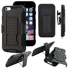 For IPhone 5S Case 6s 6 7 Plus 3 in 1 Heavy Duty Plastic Case Fundas For iPhone 7 5 S Soft TPU Cover Shock Proof Belt Clip Bag