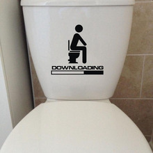 DOWNLOADING Individual Toilet Sticker Wall Decals Bathroom Home Decoration Accessories 4WS-0042