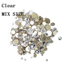 YanRuo mixed Sizes Flat Back Nail Art crystal Glue On Non Hotfix Rhinestones phone diy decoration Crystal rhinestone