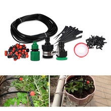 25m Hose 30 Dripper Drip Irrigation System DIY Automatic Watering Kits Micro Drip Garden Watering Systems Adjustable Dripper