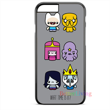 Adventure Time What Time Is It cell phone case cover for iphone 4 4s 5 5s 5c SE 6 6s plus 7 plus #ce20