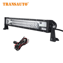 LED Light Bar 22 Inch Straight Running lights Combo Beam 450W Tri-Row Led off road Light Bar for Pickup Truck SUV ATV 4X4 RZR