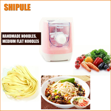 SHIPULE free shipping Household Stainless Steel Pressing Pasta Machine Small electric Noodle Making Machine