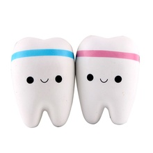 Hot Sale New Hot Sale Gags & Practical Jokes Straps Teeth Buns Bread Squishy Toys Squishies Cellphone