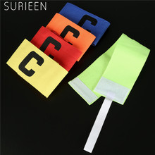 SURIEEN 2PCS (1Pair) Football Soccer Adjustable Captain Armbands Flexible Player Bands Fluorescent Arm Band 5Colors Sports Nylon(China)