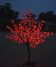 Christmas New year RED LED Cherry Blossom Tree 864pcs LED Bulbs 1.8m/6ft Height 110/220VAC Rainproof(China)