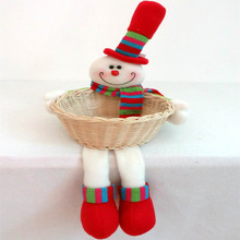 Santa Claus doll Christmas baskets child supplies crafts home decorative items for Christmas Decoration