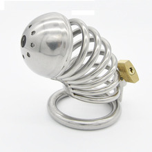 Buy Bird lock bondage stainless steel male chastity device metal cock cage penis sleeve cockrings chastity cage sex toys men