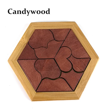 Montessori Wooden Tangram Jigsaw Board Educational Early Learning Wood Puzzles Game Toys for Children Kids Gifts(China)