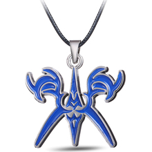 MS JEWELS  Anime Fate Stay Night Bronze Metal  Blue Logo Pendant Necklace Cosplay Jewelry Accessories