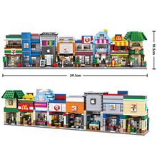 City Mini Street Model Store Series Starbucks Apple KFC Shop Model Building Block 6401-6412 Compatible with Legoe Hsanhe For kid