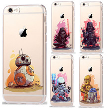 Ruic star wars kyloren bb-8 phone case para iphone 7 personagens de desenhos animados 7 plus voltar plástico capa para iphone 5 5s se 6 6 s plus