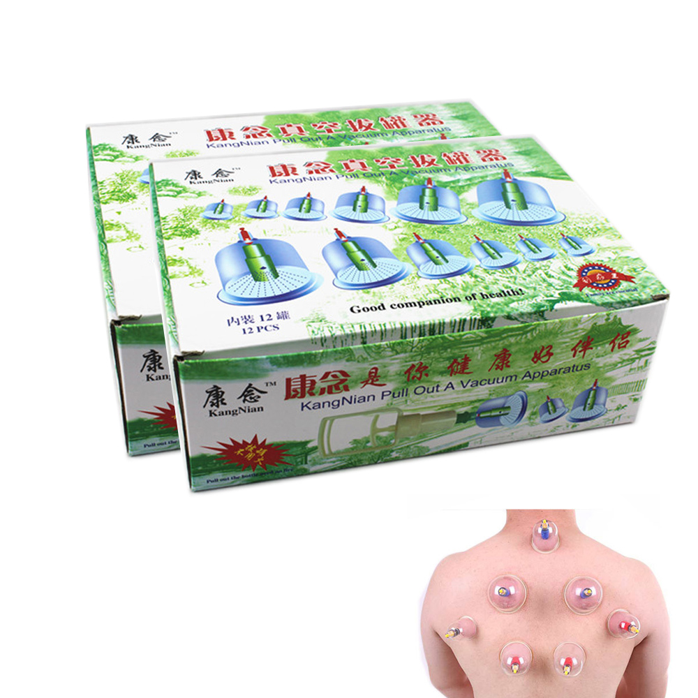 24 Cups/2Boxes Chinese Effective Healthy Medical Vacuum Cupping Tens Therapy Device Set Body Back Massager Health Care D0203<br><br>Aliexpress