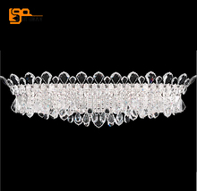 Europen style crystal wall lamp luxury sconce wall lights length 65cm lustre bathroom light AC110V 220V(China)