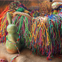 ABL0252(100), Thick Brazilian Cheap Colorful Rainbow Handmade Weave Woven Braided Rope String Strand Friendship Bracelet(China)