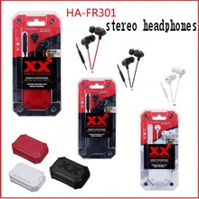 HIFI bass earphone For JVC HA-FR301 in-ear stereo headset for Apple Samsung blackberry Remote + Microphone Earphone